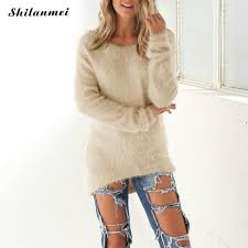 fur sweater 2017 fluffy oversized sweater pullover sleeve fur sweater