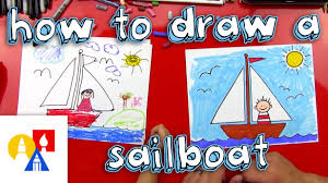 how to draw a sailboat for young artists youtube