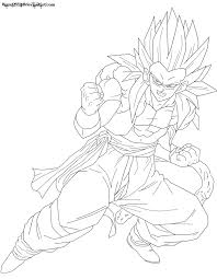 ssj4 teen gotenks lineart by jamalc157 on deviantart