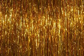 Gold Shimmer Curtains Tinsel Curtain Home Design Ideas And Pictures