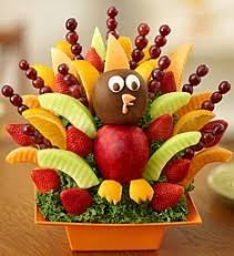 fruit arrangment it s turkey time fruit arrangement fresh fruit and chocolate bouquet