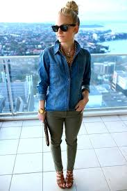 What To Wear With Light Jeans 15 Cool Fall College With A Chambray Shirt Page 5 Of 14