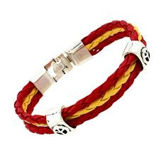 leather bracelet fashion images Travel flags sports 3 strands rope braided surfer leather jpg
