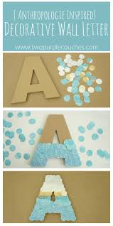 anthropologie inspired wall letter two purple couches