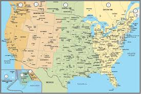 Indianapolis Time Zone Map by America Map With Time Zones U2013 America Map Intended For Usa Time