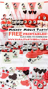 Mickey Mouse Party Theme Decorations - kara u0027s party ideas mickey mouse themed birthday party with free