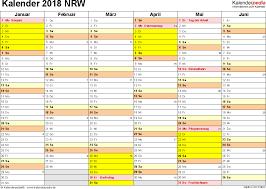 Kalender 2018 Mit Feiertagen Saarland Kalender 2018 Nrw Ferien Feiertage Pdf Vorlagen