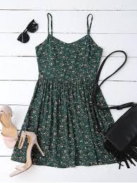 cutout tiny floral mini dress blackish green print dresses s zaful