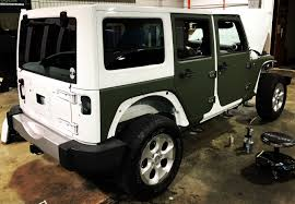 tactical jeep military green matte wrap for jeep custom vehicle wraps