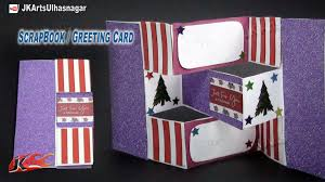 how to make christmas cards diy trifold shutter card tutorial