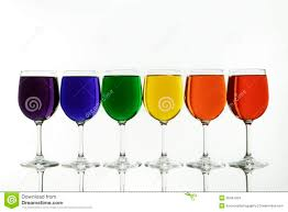 Unique Wine Glasses by The Diversity Rainbow Caputred In Wine Glasses Stock Images