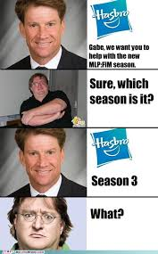 Gabe Newell Memes - gabe newell helps with new season of mlp fim gabe newell know
