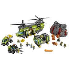 lego city volcano heavy lift helicopter 60125 toys