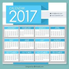 2017 calendar template vector free download