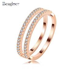 aliexpress buy beagloer new arrival ring gold beagloer brand new simple women rings brands gold color element