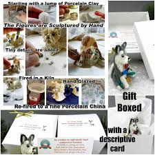 soft coated wheaten terrier christmas ornament figurine santas