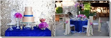 royal blue wedding royal blue and fuchsia wedding inspiration bridal tablecloths