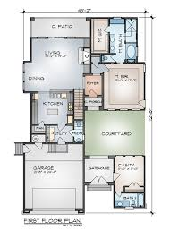 Floor Plans With Courtyard The Arezzo B 9002 3 Bedrooms And 2 Baths The House Designers