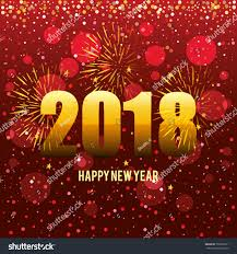 new year post card happy new year 2018 postcard stock vector 750590311