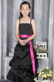 romantic black and pink junior bridesmaid gown 2786 1st dress com