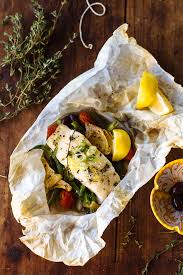a non traditional thanksgiving feast baked fish in parchment