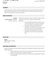 Job Resume Template Microsoft Word Resume Temple Eliolera Com