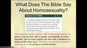what does the bible say about homosexuality and