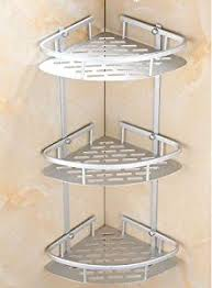 Corner Shelving Bathroom 3 Layer Triangular Shower Shelf Bathroom Corner Bath