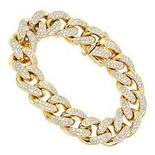gold link bracelet with diamonds images 14k gold miami cuban link chain diamond bracelet for men 11 05ct jpg