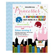 superhero and princess party invitations u0026 announcements zazzle