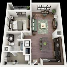 Two Bedroom Apartment Design Ideas Tremendeous 50 One 1 Bedroom Apartment House Plans Floor At 2