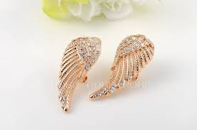 trendy gold earrings aliexpress buy 2017 roxi happiness wing gold stud