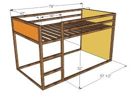 Wooden Loft Bed Plans by Ana White How To Build A Fort Bed Diy Projects