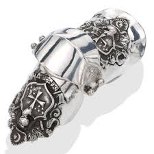 sterling silver ring bracelet images Shield armor silver ring jpg