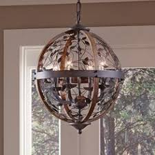 Quoizel Ceiling Light Quoizel Chamber 4 Light Darkest Bronze Cage Chandelier 4 Light