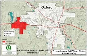 Ole Miss Campus Map Precautionary Boil Water Advisory Issued For West Oxford The