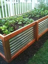 corrugated steel garden beds melbourne rustic garden box raised
