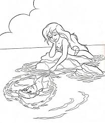 coloring pages princess 142 best little mermaid colouring page images on pinterest