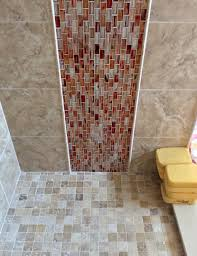 vertical red tile shower u2013 complete custom tiling