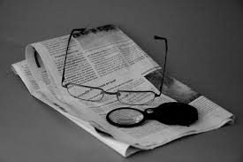 free images black and white reading journal magnifying glass