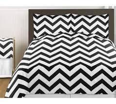 amazon com black and white chevron 3 piece bed in a bag zig zag