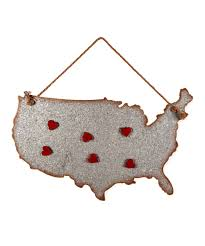 foreside home decor foreside galvanized usa wall art heart magnets zulily