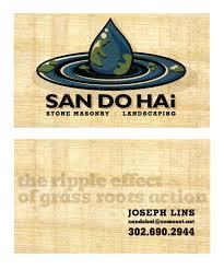 Landscape Business Cards Design Business Cards Identity Logo Design Sandohai Landscaping K3n Com