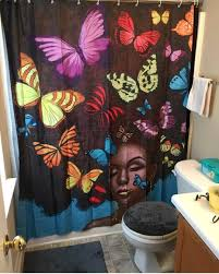 butterfly hair butterfly hair shower curtain brick built