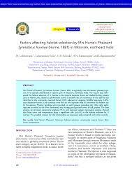 bureau dos d 穗e habitat selection change of mrs hume pdf available