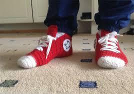 pattern crochet converse slippers crochet converse slippers häkelmonster