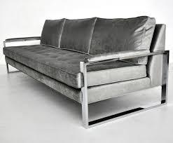 metal frame sofa bed milo baughman chrome frame sofa chrome apartment living and mid