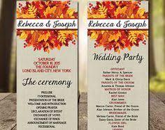 fall wedding programs printable wedding ceremony program template falling leaves diy