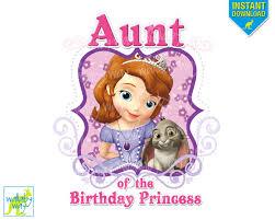 sofia birthday aunt birthday disney