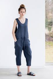 overall jumpsuit linen jumpsuit charcoal washed linen jumpsuit